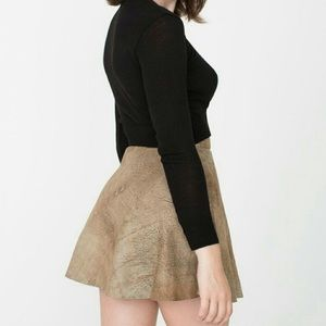 NWOT Soft Suede Leather Circle Skirt